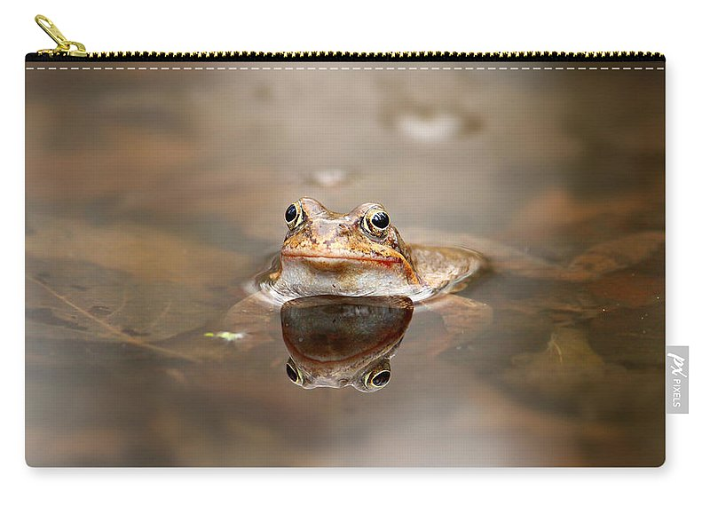 Toad Carry-all Pouch featuring the photograph Toad by Heike Hultsch