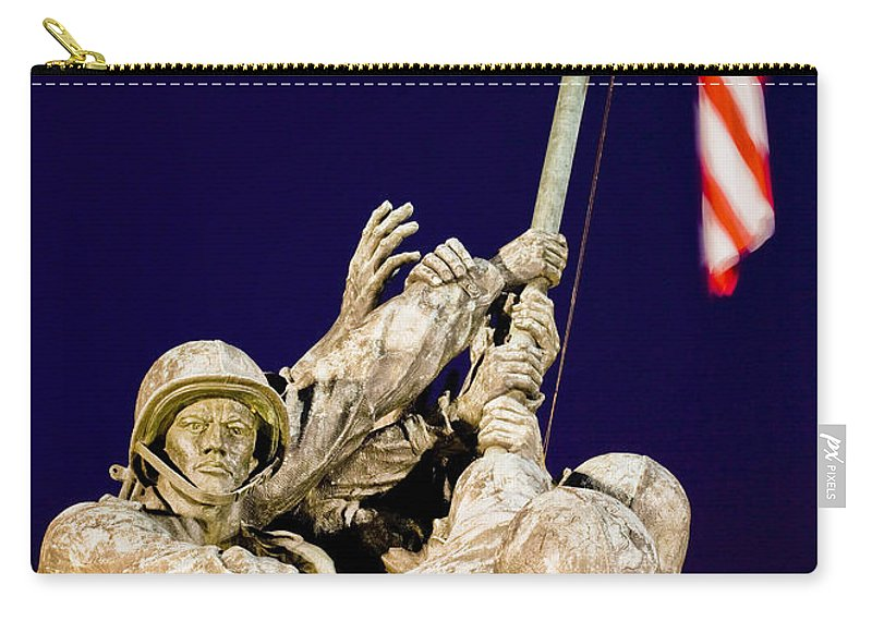 Us Carry-all Pouch featuring the photograph Us Marine Corps Memorial by B Christopher