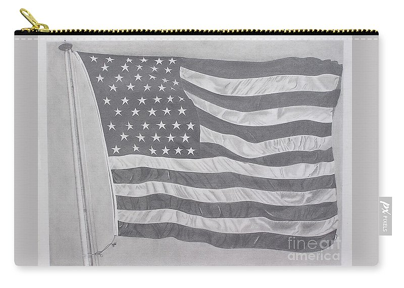 Flag Carry-all Pouch featuring the pastel 50 Stars 13 Stripes by Wil Golden
