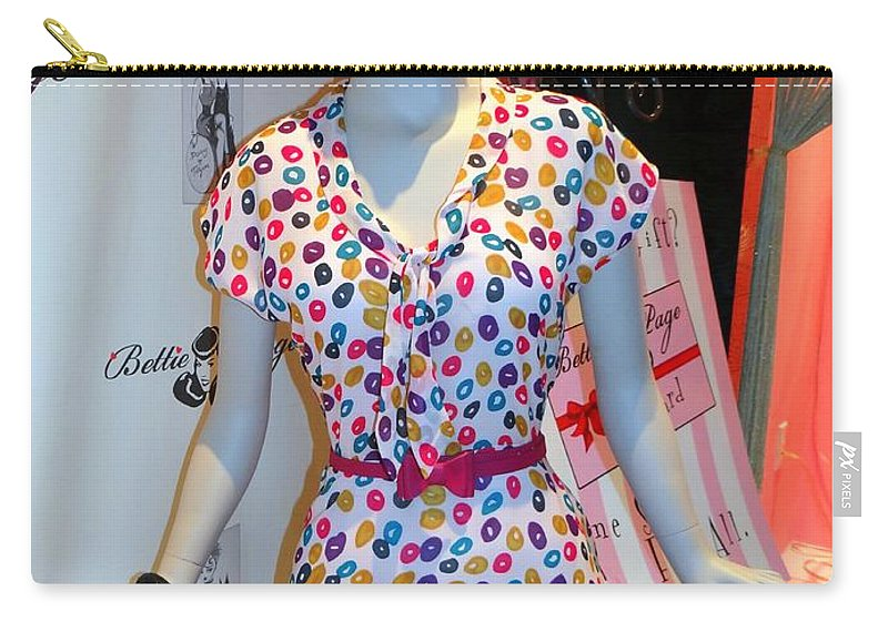 Mannequins Carry-all Pouch featuring the photograph 50's Fashion by Ed Weidman