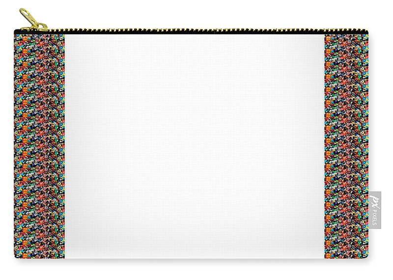 Borders Carry-all Pouch featuring the painting Border Frames Artistic Multiuse Buy Print Or Download For Self-printing Navin Joshi Rights Managed by Navin Joshi