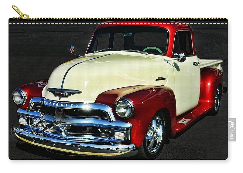 Victor Montgomery Carry-all Pouch featuring the photograph '54 Chevy Truck by Victor Montgomery