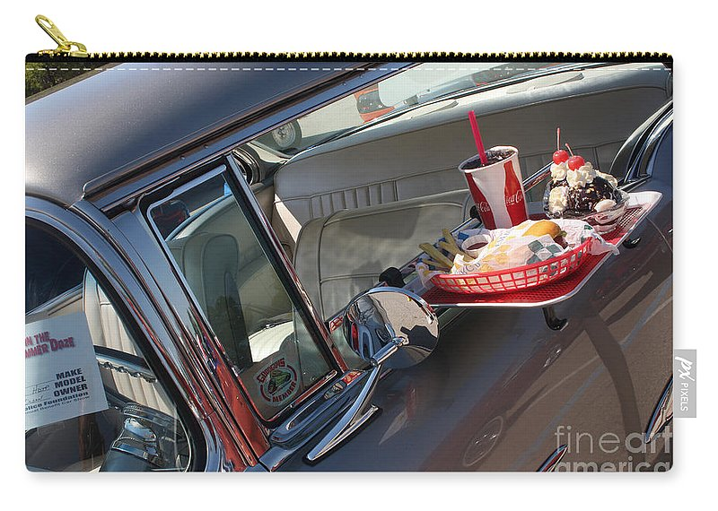 1955 Chevrolet Bel Air Carry-all Pouch featuring the photograph 55 Bel Air Door-8190 by Gary Gingrich Galleries