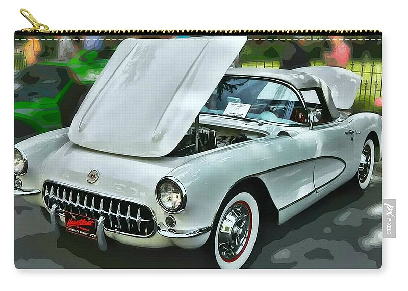 Victor Montgomery Carry-all Pouch featuring the photograph '56 Corvette by Victor Montgomery
