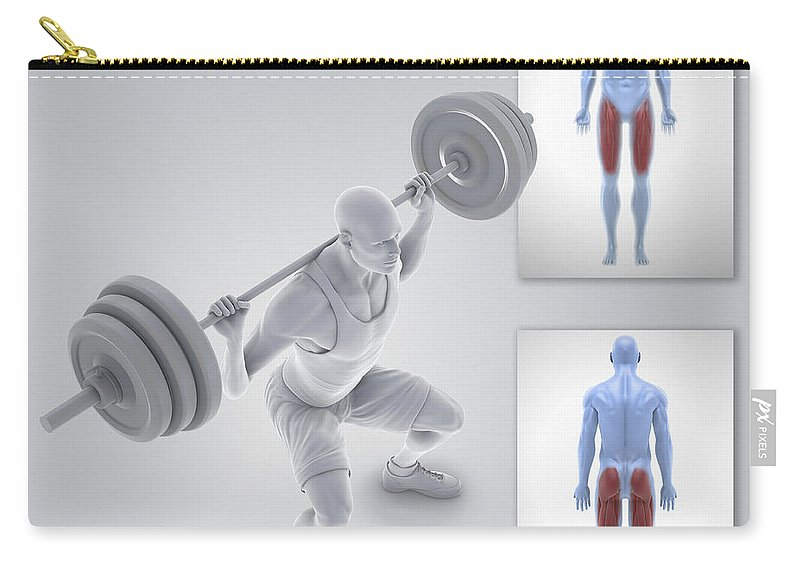 3d Visualisation Carry-all Pouch featuring the photograph Exercise Workout by Science Picture Co