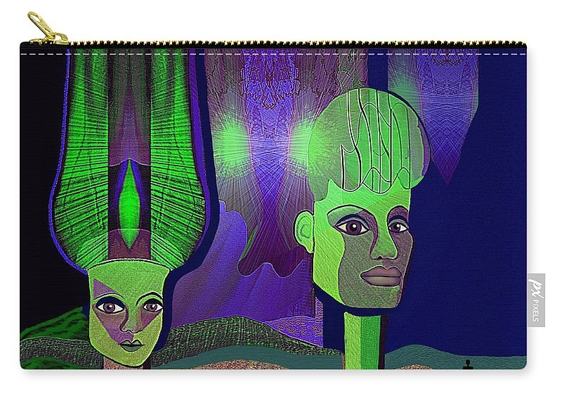 Irmgard Carry-all Pouch featuring the digital art 566 - Sphinxes In Fairyland by Irmgard Schoendorf Welch