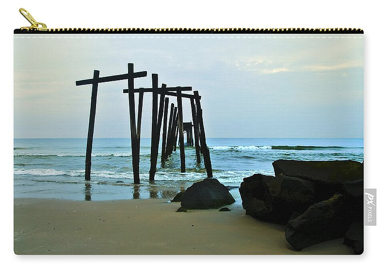 59th Street Pier Ocean City Carry-all Pouch featuring the photograph 59th Street Pier Ocean City  by Bill Cannon