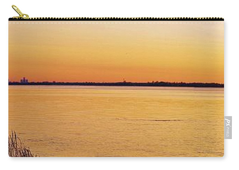 Michigan Carry-all Pouch featuring the photograph 6 33 Am. Pano by Daniel Thompson
