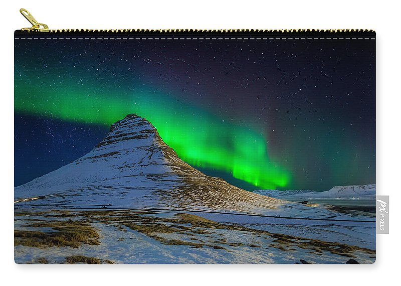 Photography Carry-all Pouch featuring the photograph Aurora Borealis Or Northern Lights by Panoramic Images
