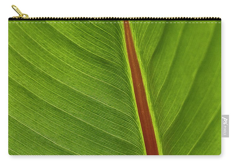 Leaf Carry-all Pouch featuring the photograph Banana Leaf by Heiko Koehrer-Wagner