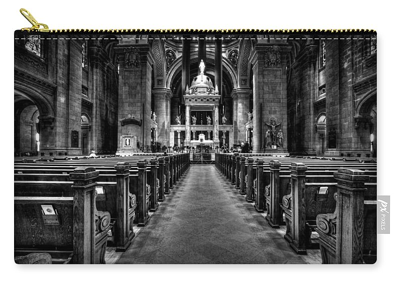 Mn Church Carry-all Pouch featuring the photograph Basilica Of Saint Mary by Amanda Stadther