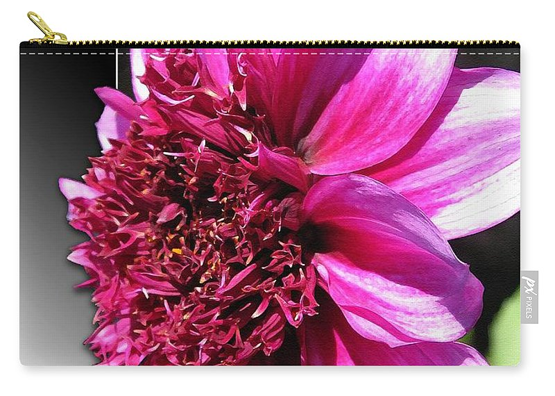 Dahlia Carry-all Pouch featuring the painting Dahlia Named Blue Bayou by J McCombie