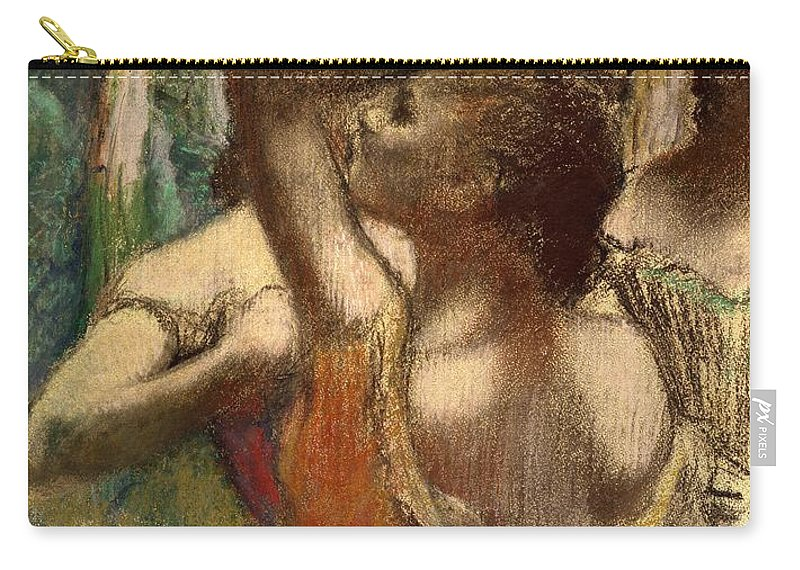 Degas Carry-all Pouch featuring the pastel Dancers by Edgar Degas
