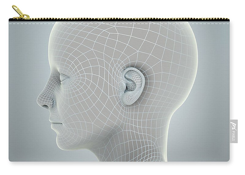 Biomedical Illustration Carry-all Pouch featuring the photograph Digital Being by Science Picture Co