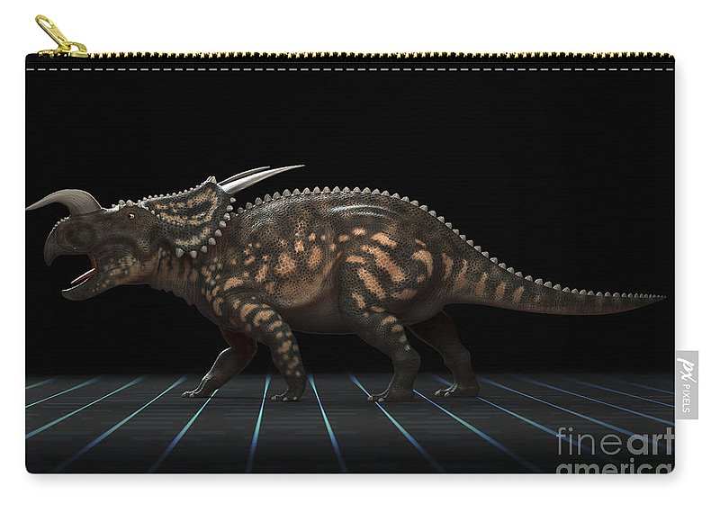 Extinction Carry-all Pouch featuring the photograph Dinosaur Einiosaurus by Science Picture Co