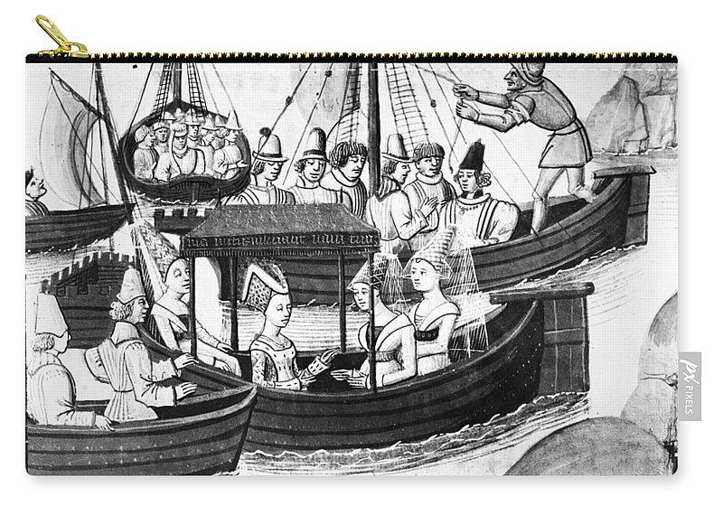 1328 Carry-all Pouch featuring the painting Edward IIi (1312-1377) by Granger