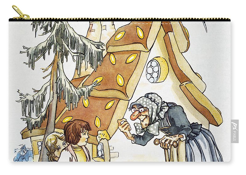 1935 Carry-all Pouch featuring the photograph Grimm: Hansel And Gretel by Granger