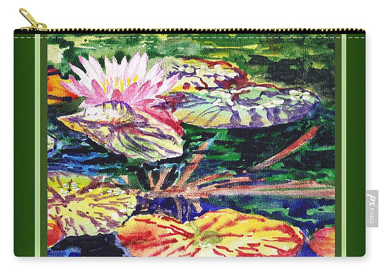Water Lilies Carry-all Pouch featuring the painting Happy Birthday by Irina Sztukowski