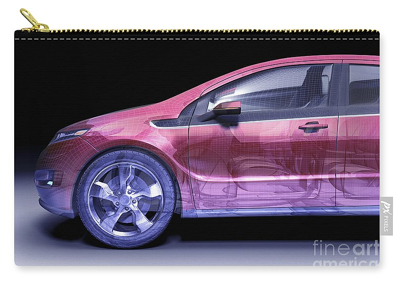 Technology Carry-all Pouch featuring the photograph Hybrid Car by Science Picture Co