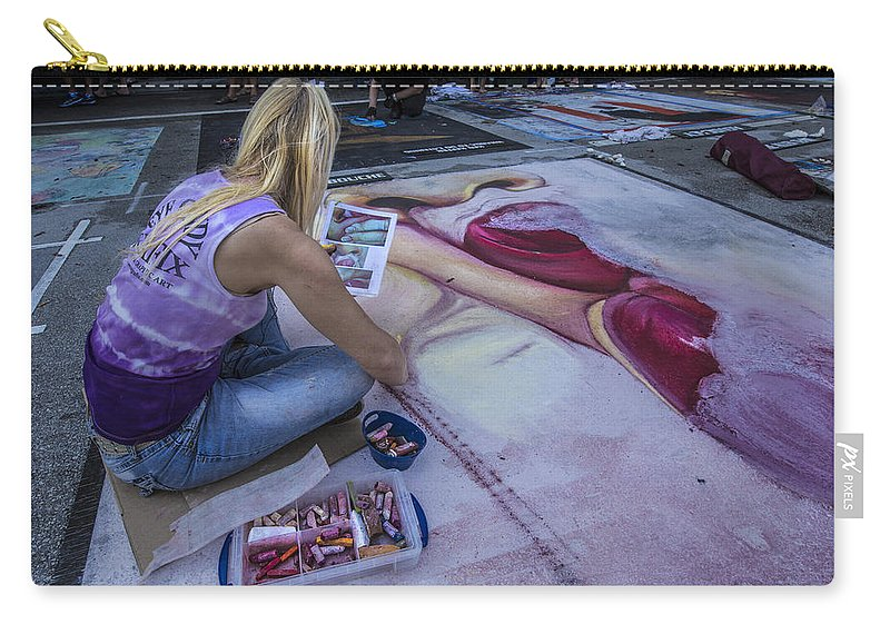 Florida Carry-all Pouch featuring the photograph Lake Worth Street Painting Festival by Debra and Dave Vanderlaan