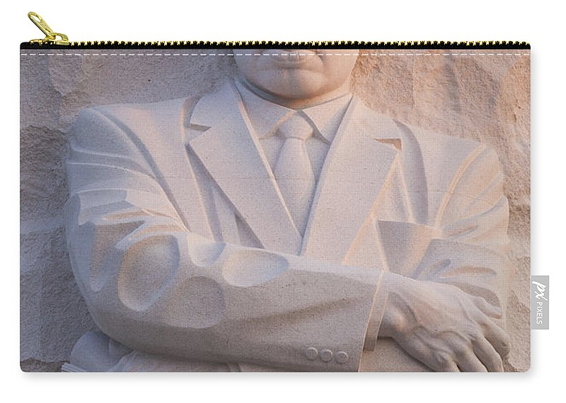 Martin Carry-all Pouch featuring the photograph Martin Luther King Jr Memorial by B Christopher