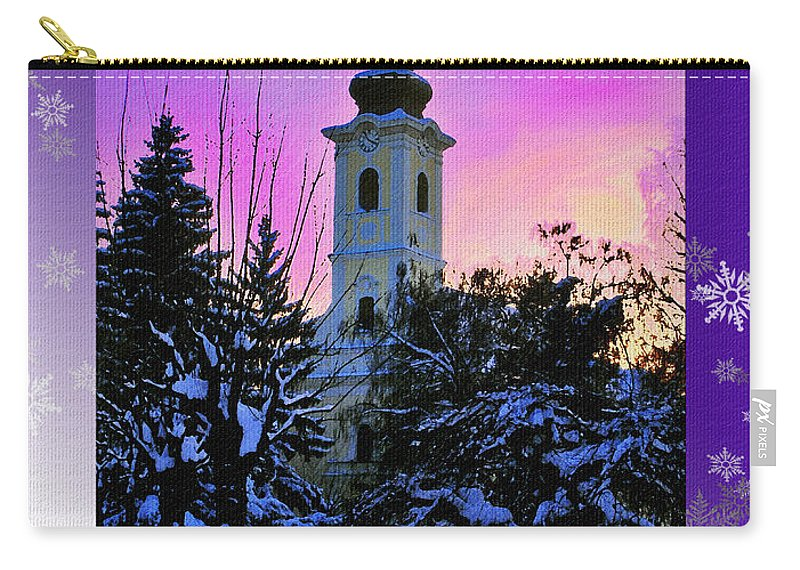 Christmas Carry-all Pouch featuring the photograph Christmas Card 21 by Nina Ficur Feenan