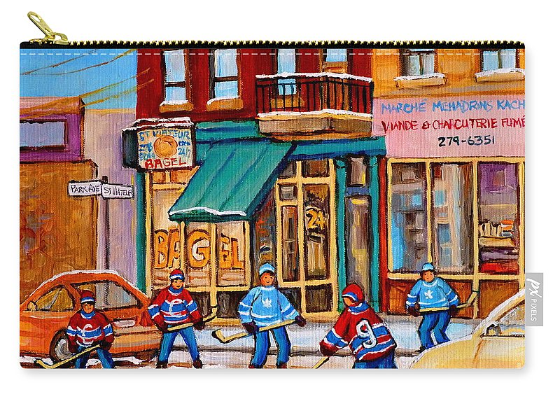 Montreal Carry-all Pouch featuring the painting Montreal Paintings by Carole Spandau