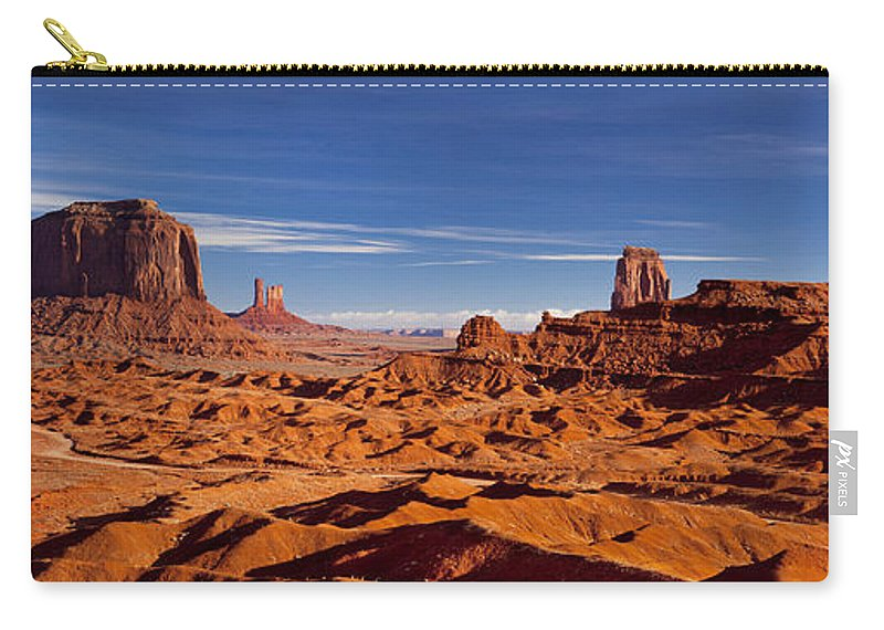 America Carry-all Pouch featuring the photograph Monument Valley by Brian Jannsen