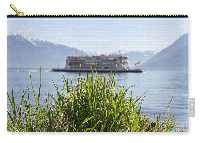 Passenger Ship Carry-all Pouch featuring the photograph Passenger Ship On An Alpine Lake by Mats Silvan