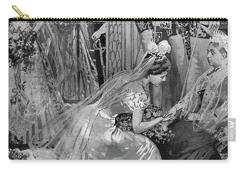 1899 Carry-all Pouch featuring the drawing Queen Victoria (1819-1901) by Granger