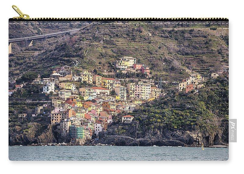 Riomaggiore Carry-all Pouch featuring the photograph Riomaggiore by Joana Kruse