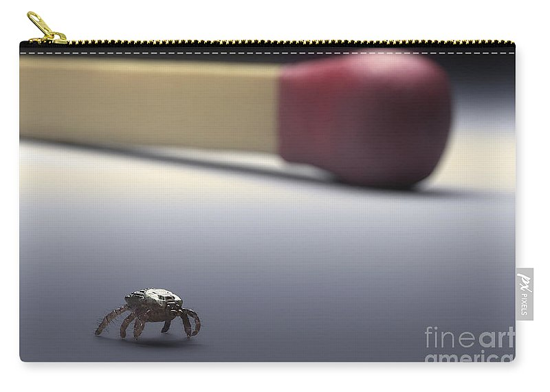 Digitally Generated Image Carry-all Pouch featuring the photograph Scale Comparison Of A Tick by Science Picture Co