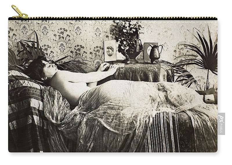 1890 Carry-all Pouch featuring the photograph Sleeping Woman, C1900 by Granger