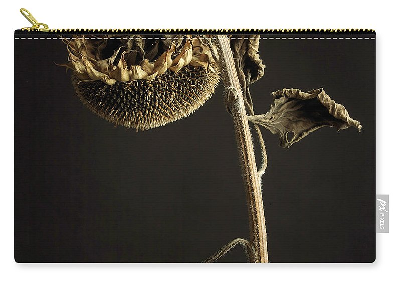 Studio Shot Carry-all Pouch featuring the photograph Sunflower by Bernard Jaubert