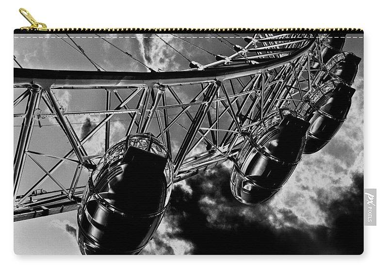 London Eye Carry-all Pouch featuring the digital art The London Eye Art by David Pyatt