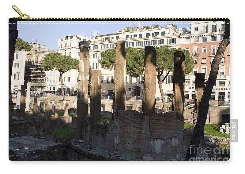 Travel Carry-all Pouch featuring the photograph The Sacred Area Of Largo Argentina by Jason O Watson
