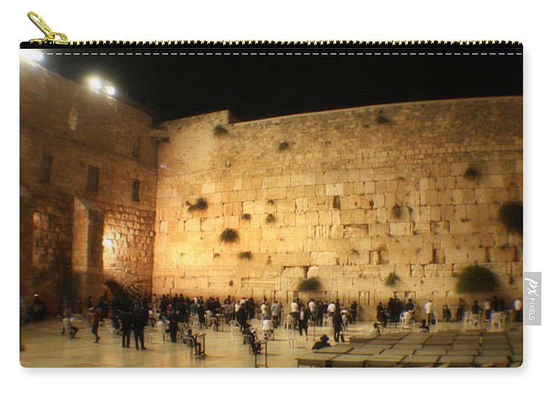 Israel Carry-all Pouch featuring the photograph The Wailing Wall by Doc Braham