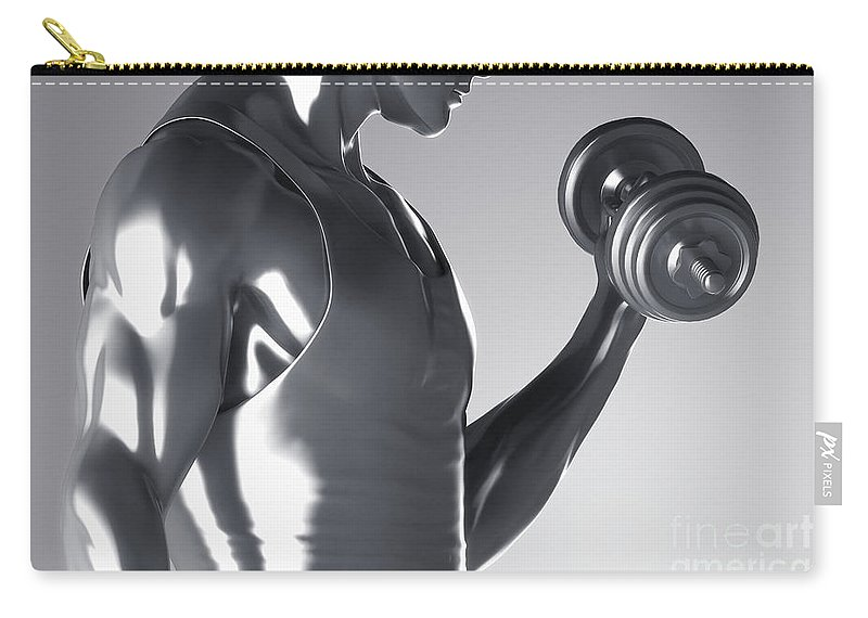 Dumbbell Carry-all Pouch featuring the photograph Exercise Workout by Science Picture Co