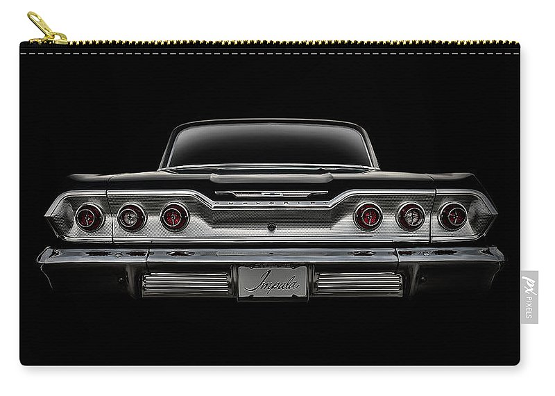 Classic Carry-all Pouch featuring the digital art '63 Impala by Douglas Pittman