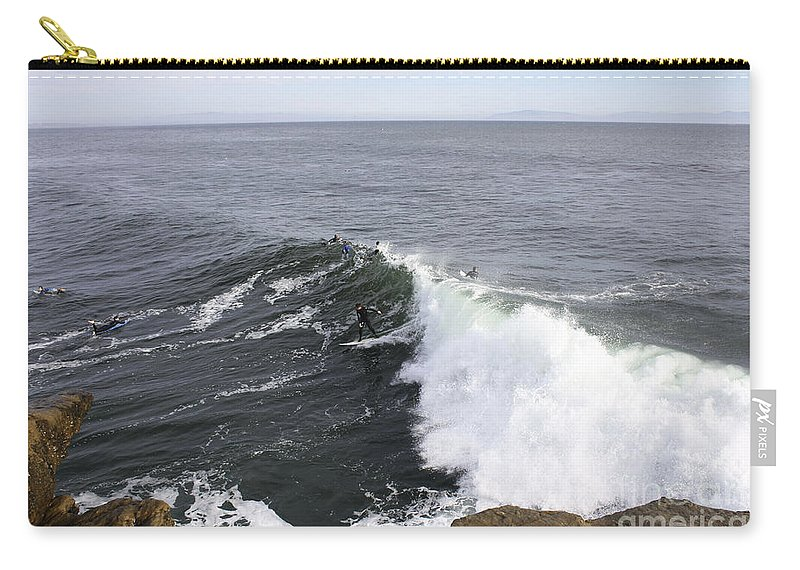 Print Carry-all Pouch featuring the photograph 654 Steamer Lane by Chris Berry