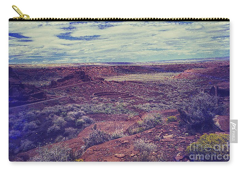 Print Carry-all Pouch featuring the photograph 669 Sl Large Kiva by Chris Berry