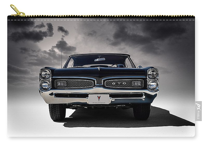 Transportation Carry-all Pouch featuring the digital art '67 Gto by Douglas Pittman