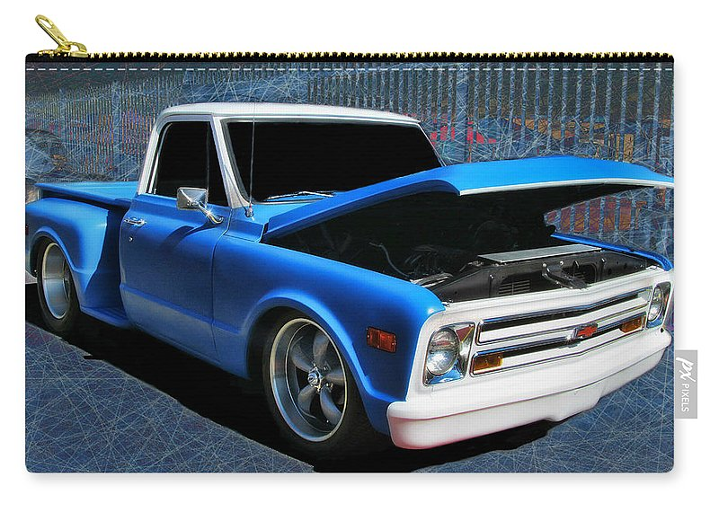 Victor Montgomery Carry-all Pouch featuring the photograph '68 Chevy Stepside by Victor Montgomery