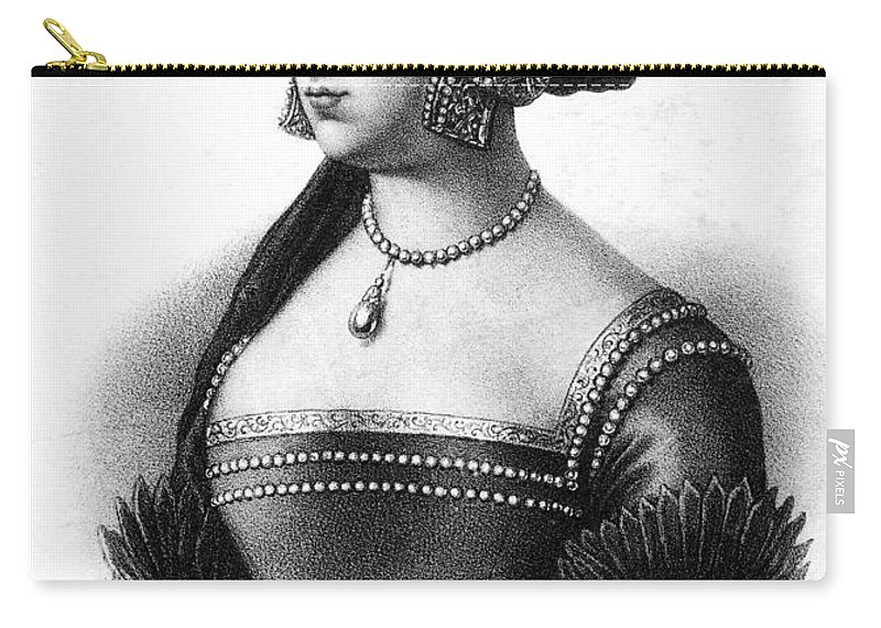 16th Century Carry-all Pouch featuring the painting Anne Boleyn (1507-1536) by Granger