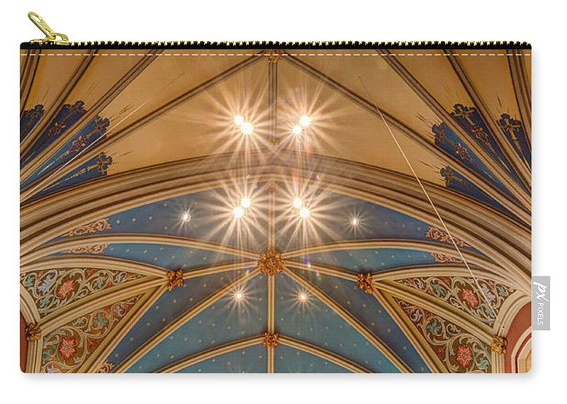Savannah Carry-all Pouch featuring the photograph Cathedral Of St. John The Baptist Savannah Georgia by Dawna Moore Photography