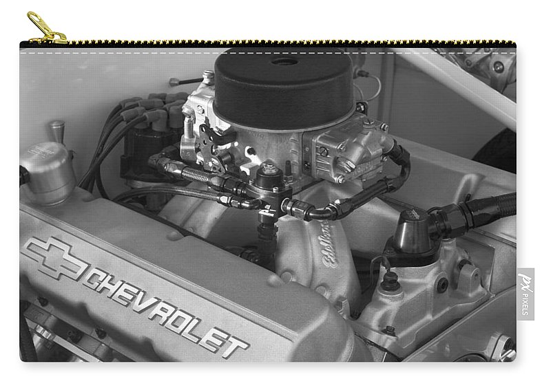 Chevrolet Engine Carry-all Pouch featuring the photograph Chevrolet Engine by Jill Reger