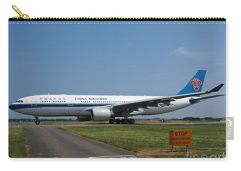 737 Carry-all Pouch featuring the photograph China Southern Airlines Airbus A330 by Paul Fearn