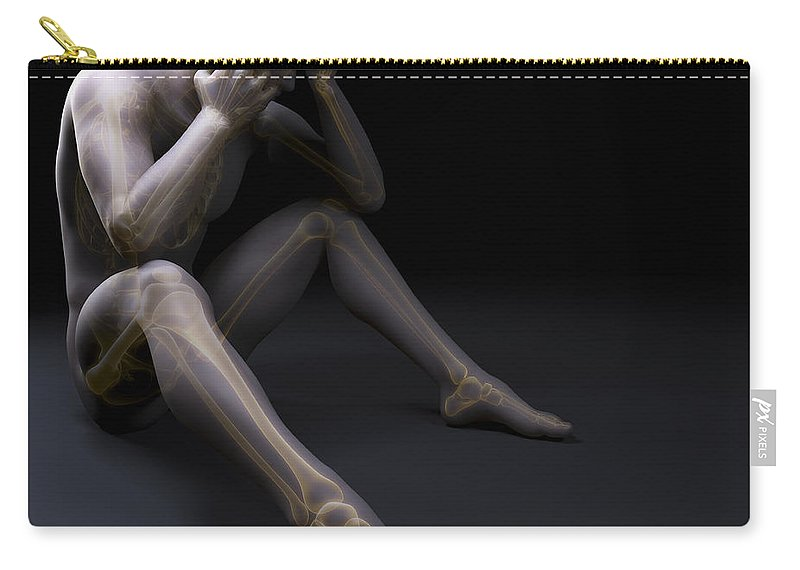 3d Visualization Carry-all Pouch featuring the photograph Depression by Science Picture Co