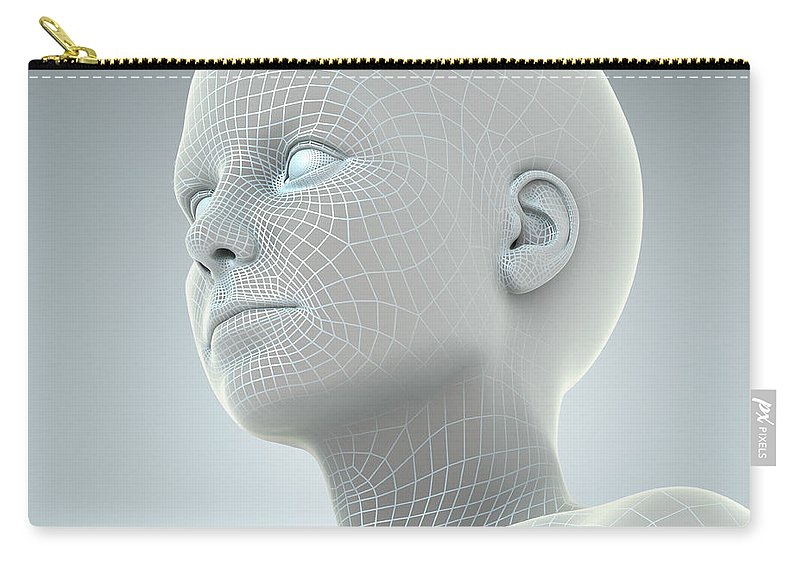 Artificial Intelligence Carry-all Pouch featuring the photograph Digital Being by Science Picture Co