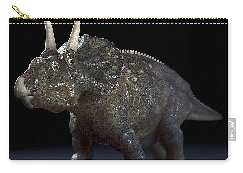 Extinction Carry-all Pouch featuring the photograph Dinosaur Diceratops by Science Picture Co
